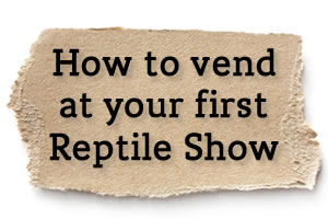 How to Vend at your first Reptile Show