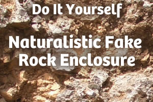 DIY: Naturalistic Foam Fake Rock Enclosure